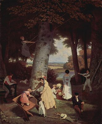 Jacques-Laurent Agasse - The playground (Der Spielplatz)