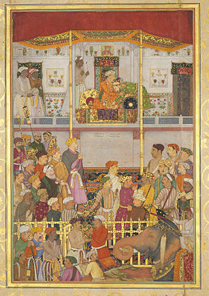Ajmer - Jahangir receives Prince Khurram at Ajmer on his return from the Mewar campaign