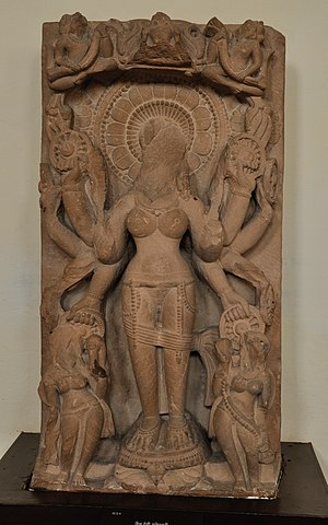 Chakreshvari - Goddess Chakeshvari, c. 10th century, Mathura Museum.
