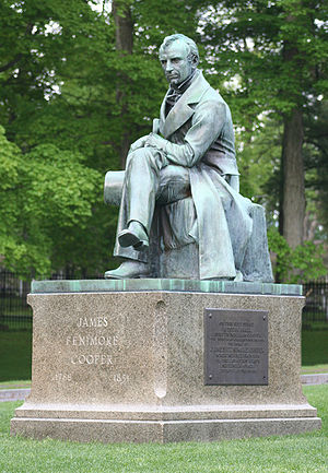 James Fenimore Cooper statue in Cooperstown, NY.