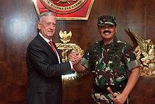 Tjahjanto With Us Secretary Of Defense Jim Mattis In Jakarta In