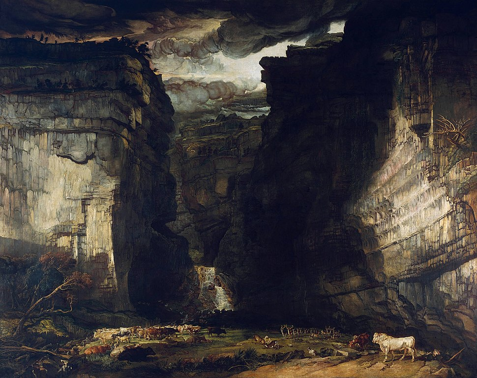 James Ward - Gordale Scar (A View of Gordale, in the Manor of East Malham in Craven, Yorkshire, the Property of Lord Ribblesdale) - Google Art Project