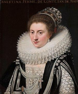 John VIII, Count of Nassau-Siegen - His wife, Ernestine Yolande de Ligne