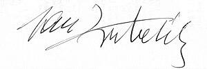 Jan Kubelík - Jan Kubelík's signature