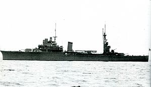 Japanese invasion of Thailand - IJN light cruiser Kashii in 1941
