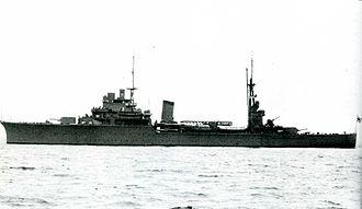 Japanese invasion of Thailand - IJN light cruiser Kashii in 1941
