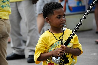 """The Roots of Music - Roots of Music drum major """"Tutta"""" at Jazz Fest 2012"""