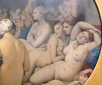 The Turkish Bath - Ingres, The Turkish Bath, detail