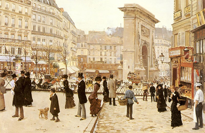 Fichier:Jean Béraud Le Boulevard St. Denis, Paris.jpg
