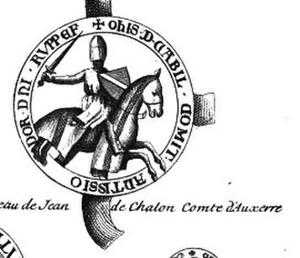 John I, Count of Auxerre - Seal of John I of Chalon-Auxerre