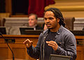 Jeremiah Bey Ellison at Minneapolis City Council Hearing (24274559025).jpg