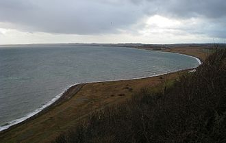 Jernhatten - View, south from top, Bay of Draaby, winter