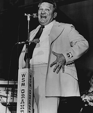 Jerry Clower - Clower at the Grand Ole Opry in 1974
