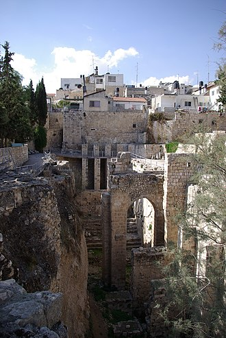 Pool of Bethesda - The Ruins of the Byzantine Church, adjacent to the site of the Pool of Bethesda