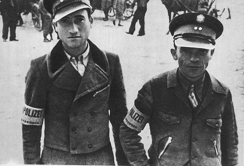 File:Jewish Police Węgrów.jpg