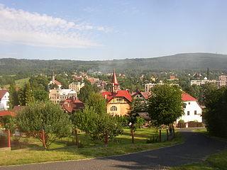 Jílové Town in Ústí nad Labem, Czech Republic