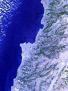 Jiyyeh oil spill 2006 NASA ASTER