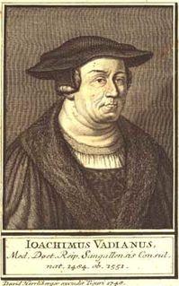 Joachim Vadian Swiss humanist