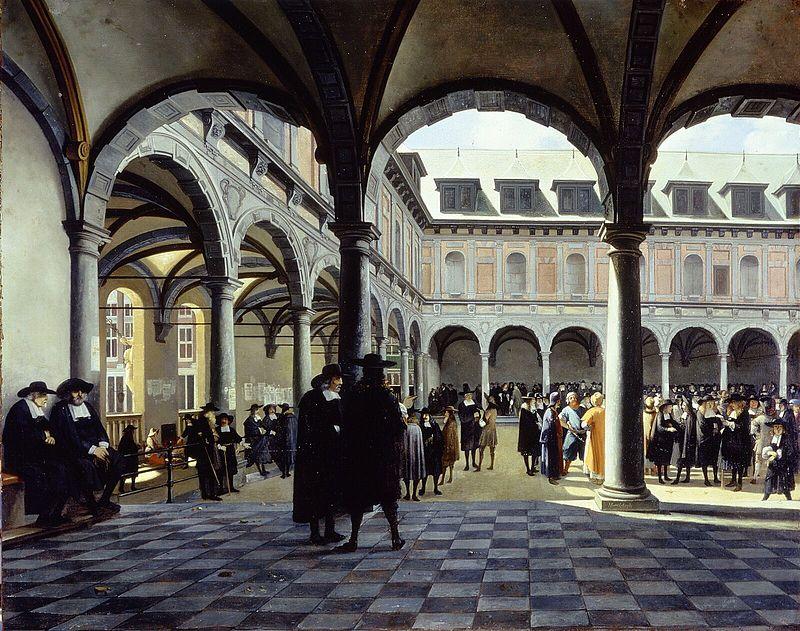 Courtyard of the Amsterdam Stock Exchange