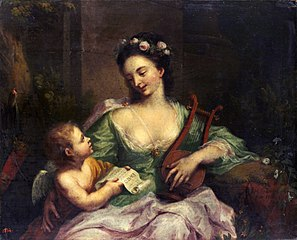 The Muse Erato (the nine muses, 1781)