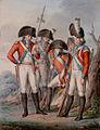 Johann Michael Mettenleiter Offiziere der Kurfürstlich Sächsischen Armee beraten sich 1802.jpg