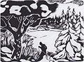Johannessen - Skiläufer in verschneiter Landschaft - c. 1918.jpeg