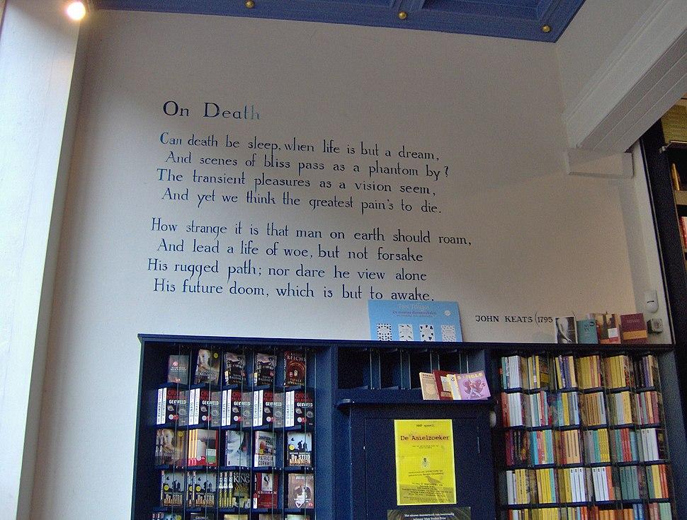 John Keats - On death - Breestraat 113, Leiden