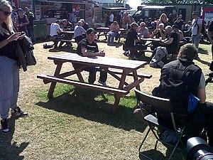 TT Grandstand - Image: John Mc Guinness TT paddock 2013