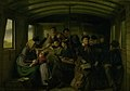 Julius Exner - I en tredieklasses jernbanekupé - KMS1803 - Statens Museum for Kunst.jpg
