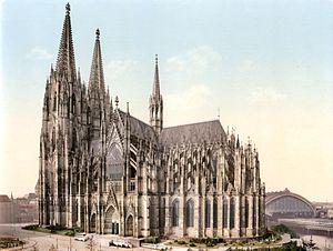 Zentral-Dombauverein zu Köln von 1842 - Image: Kölner Dom um 1900