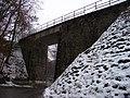Křivoklát, silnice 201, od Roztok, železniční most.jpg