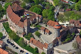 Nuremberg Castle - Aerial picture
