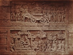 KITLV 90019 - Isidore van Kinsbergen - Reliefs on the Borobudur near Magelang - Around 1900.tif