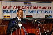 Rwandan president Paul Kagame at the 2006 EAC summit. Rwanda will join the EAC on 1 July 2007