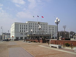 Kaliningrad town hall seen from Pobedy square.jpg