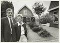 Kapsalon Kees en Marijke Schouten aan de Liedeweg 63 vieren in 1990 hun eerste lustrum. NL-HlmNHA 54031738.JPG
