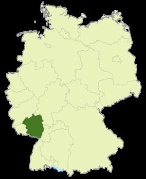 Verbandsliga Südwest - Image: Karte DFB Regionalverbände SW