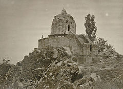 Kashmir. Temple of Jyeshteswara -Shankaracharya-, on the Takht-i-Suliman Hill, near Srinagar. Probable date 220 B.C. 1.jpg