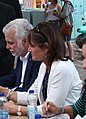 Kathleen Weil immigration minister and Philippe Couillard premier of Quebec at Montreal harbor 2017 8259.jpg