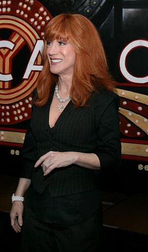 English: Kathy Griffin, before her performance...