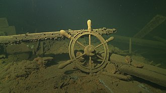 Underwater archaeology - Wreck of E. Russ in Estonia is considered a national heritage monument.