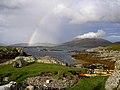 Kayaks and rainbow - Barra - geograph.org.uk - 1476889.jpg