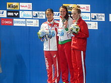 Kazan 2015 - Victory Ceremony 200m individual medley W.JPG
