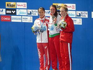 Swimming at the 2015 World Aquatics Championships – Women's 200 metre individual medley - Victory ceremony