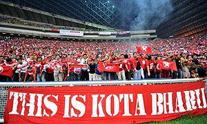 Kelantan FA - Kelantan FA fans in a 2012 Piala Malaysia semi-final match against Selangor