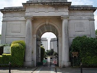 Harrow Road - The main entrance of Kensal Green Cemetery, on Harrow Road