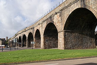 Kilmarnock railway station - Kilmarnock railway viaduct