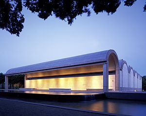 Kimbell Art Museum - Kimbell Art Museum at dusk