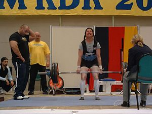 Kimiko Douglass-Ishizaka - Kimiko performing the deadlift at the 2005 German Championships in Powerlifting