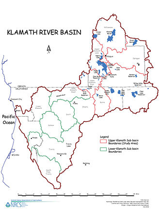 Klamath River - Klamath River watershed boundaries